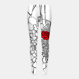 Thumbnail image of The Shattered Rose II Girl's leggings, Live Heroes