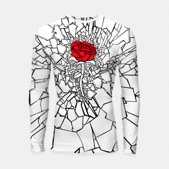 Thumbnail image of The Shattered Rose II Longsleeve rashguard , Live Heroes