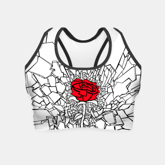 Thumbnail image of The Shattered Rose II Crop Top, Live Heroes