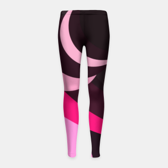 Thumbnail image of Brown pinky Girl's leggings, Live Heroes