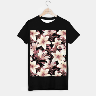 Miniaturka Lilies on black T-shirt regular, Live Heroes