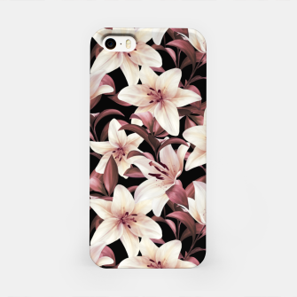Miniaturka Lilies on black iPhone Case, Live Heroes