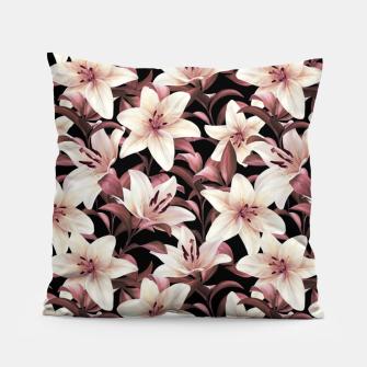 Miniaturka Lilies on black Pillow, Live Heroes