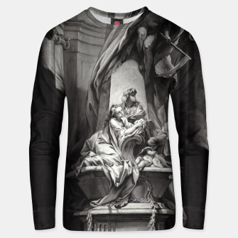 Miniaturka Monument to Mignard by François Boucher Old Masters Classical Fine Art Reproduction Unisex sweater, Live Heroes