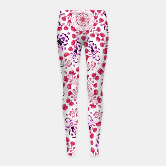 Thumbnail image of Modern Ornate Pattern Design Girl's leggings, Live Heroes
