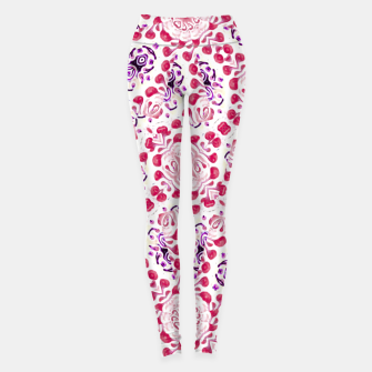 Miniaturka Modern Ornate Pattern Design Leggings, Live Heroes