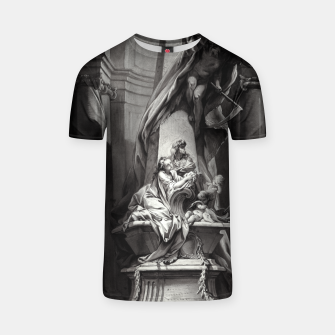 Thumbnail image of Monument to Mignard by François Boucher Old Masters Classical Fine Art Reproduction T-shirt, Live Heroes