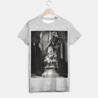 Thumbnail image of Monument to Mignard by François Boucher Old Masters Classical Fine Art Reproduction T-shirt regular, Live Heroes
