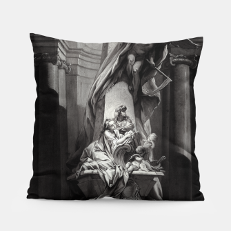 Miniaturka Monument to Mignard by François Boucher Old Masters Classical Fine Art Reproduction Pillow, Live Heroes