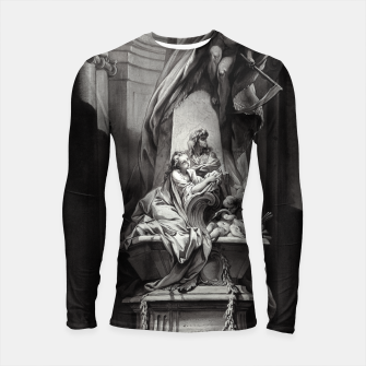 Miniaturka Monument to Mignard by François Boucher Old Masters Classical Fine Art Reproduction Longsleeve rashguard , Live Heroes