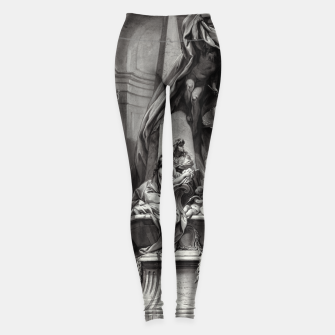 Thumbnail image of Monument to Mignard by François Boucher Old Masters Classical Fine Art Reproduction Leggings, Live Heroes