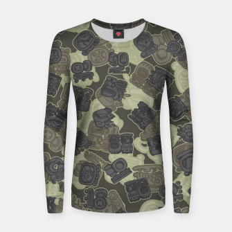 Thumbnail image of Mayan Temple Camo AZTEC DESERT Women sweater, Live Heroes