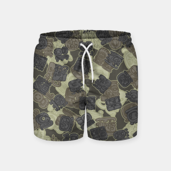 Thumbnail image of Mayan Temple Camo AZTEC DESERT Swim Shorts, Live Heroes