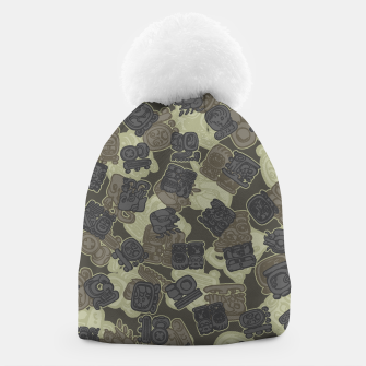 Thumbnail image of Mayan Temple Camo AZTEC DESERT Beanie, Live Heroes