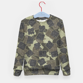 Thumbnail image of Mayan Temple Camo AZTEC DESERT Kid's sweater, Live Heroes
