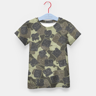 Thumbnail image of Mayan Temple Camo AZTEC DESERT Kid's t-shirt, Live Heroes