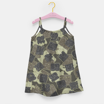 Thumbnail image of Mayan Temple Camo AZTEC DESERT Girl's dress, Live Heroes