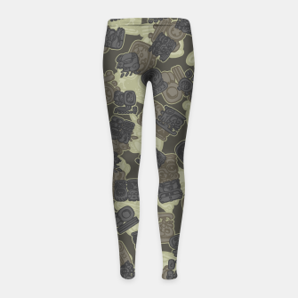 Thumbnail image of Mayan Temple Camo AZTEC DESERT Girl's leggings, Live Heroes