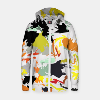 Thumbnail image of light floral Zip up hoodie, Live Heroes