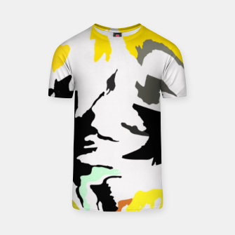 Thumbnail image of light floral T-shirt, Live Heroes