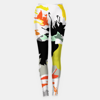Thumbnail image of light floral Leggings, Live Heroes