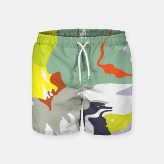 Thumbnail image of light floral Swim Shorts, Live Heroes