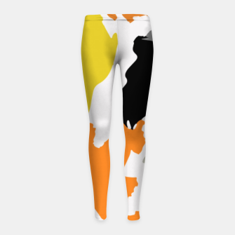 Thumbnail image of light floral Girl's leggings, Live Heroes