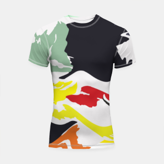 Thumbnail image of light floral Shortsleeve rashguard, Live Heroes