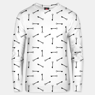 Thumbnail image of Antique Key Graphic Silhouette Motif Pattern Unisex sweater, Live Heroes