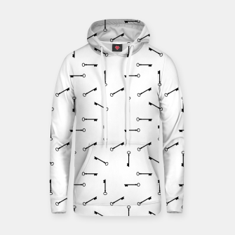 Thumbnail image of Antique Key Graphic Silhouette Motif Pattern Hoodie, Live Heroes