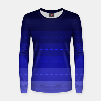 Thumbnail image of Blue Stripped Pattern design Women sweater, Live Heroes