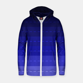 Thumbnail image of Blue Stripped Pattern design Zip up hoodie, Live Heroes