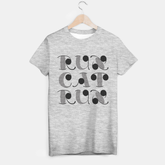 Thumbnail image of RunCatRun visual noise font in grey T-shirt regular, Live Heroes