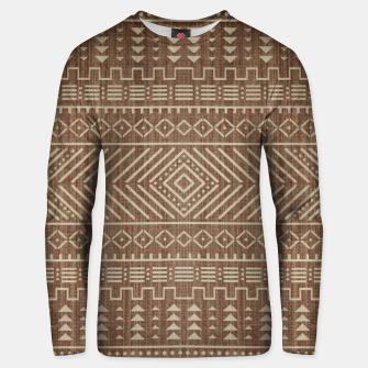 Miniatur Brown Oriental African Moroccan Boho Style Pattern Unisex sweater, Live Heroes