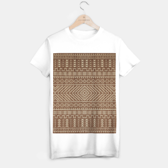Miniatur Brown Oriental African Moroccan Boho Style Pattern T-shirt regular, Live Heroes