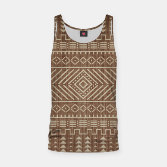 Miniatur Brown Oriental African Moroccan Boho Style Pattern Tank Top, Live Heroes