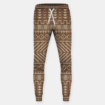 Thumbnail image of Brown Oriental African Moroccan Boho Style Pattern Sweatpants, Live Heroes