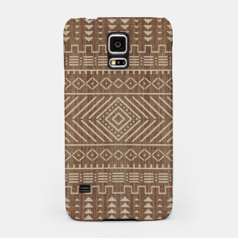 Miniatur Brown Oriental African Moroccan Boho Style Pattern Samsung Case, Live Heroes