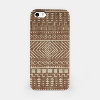 Miniatur Brown Oriental African Moroccan Boho Style Pattern iPhone Case, Live Heroes