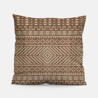 Miniatur Brown Oriental African Moroccan Boho Style Pattern Pillow, Live Heroes