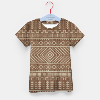 Miniatur Brown Oriental African Moroccan Boho Style Pattern Kid's t-shirt, Live Heroes