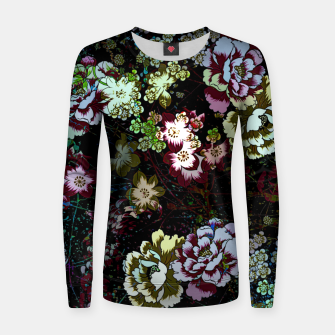 Miniatur Chinese peonies Women sweater, Live Heroes