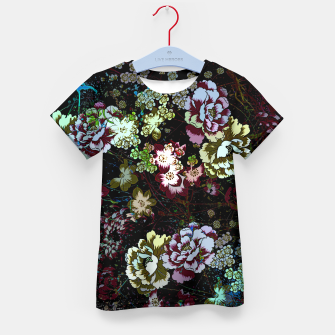 Miniatur Chinese peonies Kid's t-shirt, Live Heroes