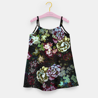 Miniatur Chinese peonies Girl's dress, Live Heroes