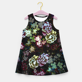 Miniatur Chinese peonies Girl's summer dress, Live Heroes