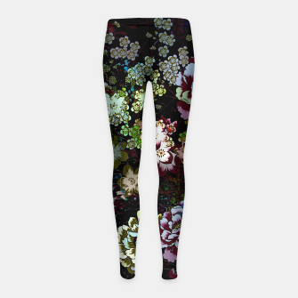 Thumbnail image of Chinese peonies Girl's leggings, Live Heroes