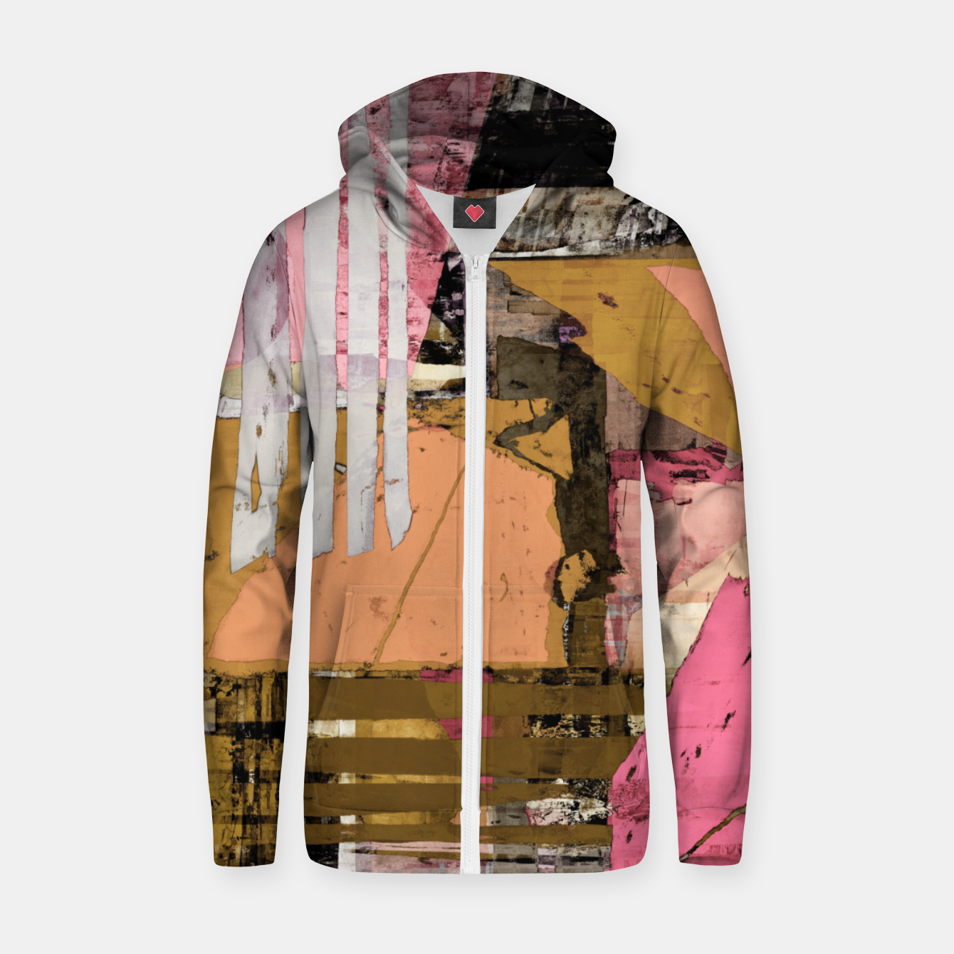Image of Obstacle course Zip up hoodie - Live Heroes