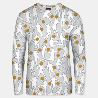 Thumbnail image of Basketball Player Pattern WHITE Unisex sweater, Live Heroes