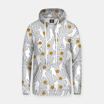 Thumbnail image of Basketball Player Pattern WHITE Hoodie, Live Heroes