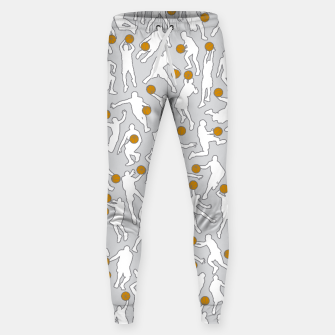 Thumbnail image of Basketball Player Pattern WHITE Sweatpants, Live Heroes